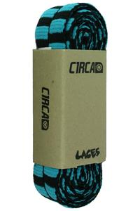 C1RCA Pattern Laces (black turquoise stripe)