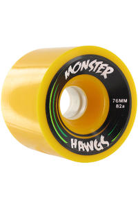 Landyachtz Hawgs Monster 76mm 82a Wheel 4er Pack  (yellow)