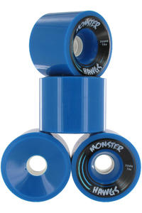 Landyachtz Hawgs Monster 76mm 78A Rollen 4er Pack  (blue)