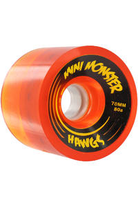 Landyachtz Hawgs Mini Monster 70mm 80a Wheel 4er Pack  (clear orange)