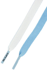 Mr. Lacy Clubbies Schnürsenkel (light blue white)