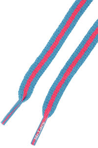 Mr. Lacy Stripies Schnürsenkel (mellow blue neon pink)