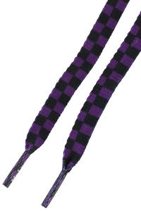 Mr. Lacy Printies Schnürsenkel (purple black checkered)
