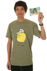 Cleptomanicx Zitrone T-Shirt (heather harbour olive)