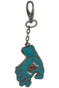 Santa Cruz Screaming Hand Fob Key-Chain (gunmetal)