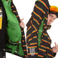 Burton Launch Snowboard Jacke (true black marcos stripe)