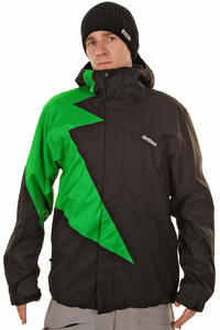Zimtstern Flash Snowboard Jacket (black green)