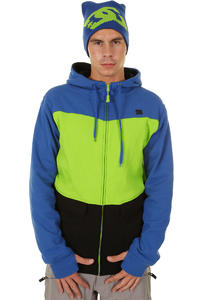 DC Kupress Snow Zip-Hoodie (lime olympian blue)