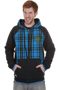 Nomis Double Team Flannel Snow Zip-Hoodie (bright blue aspen green)