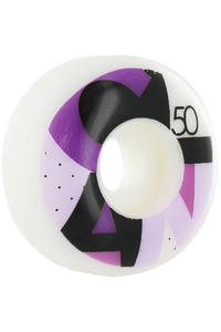 Clan Skateboards Full Colors 50mm Rollen 4er Pack  (white purple)