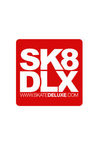 SK8DLX 20 cm Sticker (red)