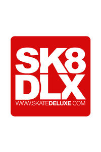SK8DLX 40 cm Sticker (red)