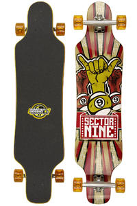 "Sector 9 Super Shaka - Platinum Series  42.25"" (107,5cm) Complete-Longboard (red)"