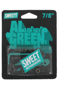 "Sweet Greens 7/8"" Inbus Bolt Pack (black green)"