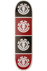 "Element Team Quadrant 7.75"" Deck (black red)"