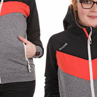 Mazine Smiley 2 Zip-Hoodie girls (black signal red)
