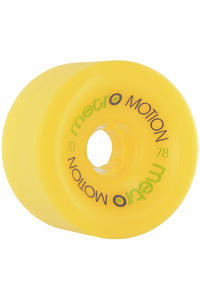 Metro Wheels Motion 70mm 78a Rollen 4er Pack  (yellow)