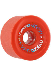 Metro Wheels Motion 70mm 80a Rollen 4er Pack  (red)