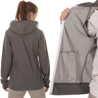 Carhartt Hooded Gym Jacke girls (dark grey heather white)