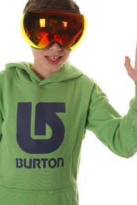 Burton Boys' Logo Vertical Hoodie kids (heather sweet leaf)