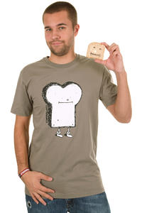 Cleptomanicx Toast T-Shirt (walnut)