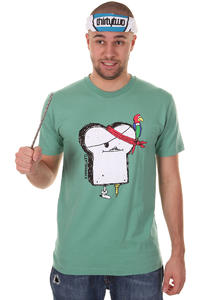 Cleptomanicx Piratentoast T-Shirt (beryl green)