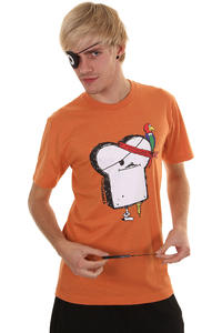 Cleptomanicx Piratentoast T-Shirt (heather orange)
