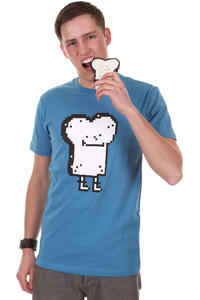 Cleptomanicx Pixel Toast T-Shirt (port blue)