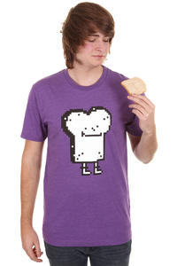 Cleptomanicx Pixel Toast T-Shirt (heather purple)