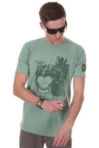 Cleptomanicx Toast Hawaii T-Shirt (heather beryl green)