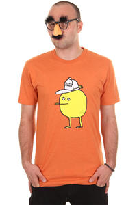 Cleptomanicx Zitrone T-Shirt (heather orange)