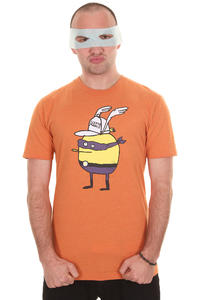 Cleptomanicx Super Zitrone T-Shirt (heather orange)