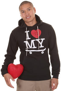 Trap Skateboards I Love My Skateboard Hoodie (black)