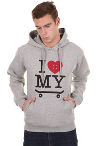 Trap Skateboards I Love My Skateboard Hoodie (heather grey)
