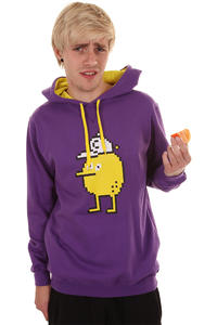 Cleptomanicx Pixel Zitrone Hoodie (purple)