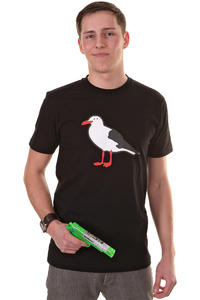 Cleptomanicx Gull T-Shirt (black)
