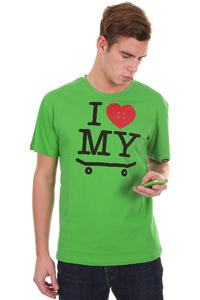 Trap Skateboards I Love My Skateboard T-Shirt (classic green)