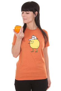 Cleptomanicx Zitrone T-Shirt girls (heather orange)