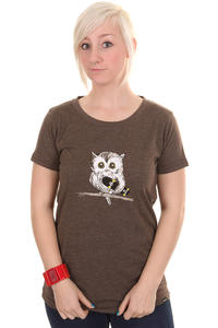Trap Skateboards Eule T-Shirt girls (heather brown)