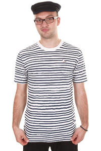 Cleptomanicx Sir Stripe Tee T-Shirt (white)
