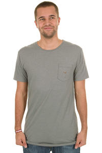 Cleptomanicx Ligull Long T-Shirt (heather moon grey)
