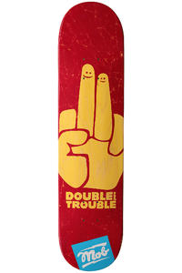 MOB Skateboards Double Trouble 7.5&quot; Deck (red)