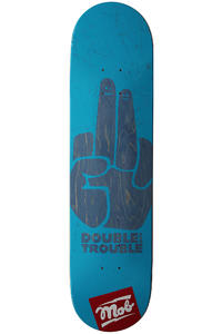MOB Skateboards Double Trouble 7.875&quot; Deck (cyan)