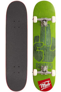 MOB Skateboards Double Trouble 7.75&quot; Complete-Board (green)