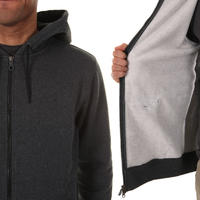 Nike Logo Zip-Hoodie (black heather)