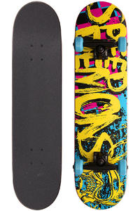 Speed Demons 100 Logo 7.875&quot; Complete-Board (yellow pink blue)