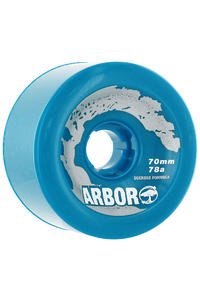 Arbor Durometer 70mm 78A Wheel 4er Pack  (blue)