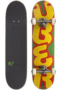 "Über Skateboards Asphalt 7.2"" Komplettboard (green yellow)"