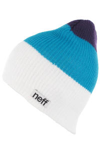 Neff Trio Beanie (white cyan purple)