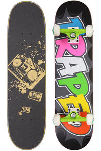 "Trap Skateboards Traped 7.5"" Complete-Board (black)"
